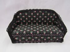 Rose Print Couch Dollhouse Miniature