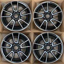 "Mercedes AMG W205 C450 C43 C63 Alloy Wheel Set Diamond/Satin Black 19"" 7.5J 8.5J"