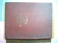 MAP 1922 CRAM'S HOME LIBRARY ATLAS WWI SYNOPSIS