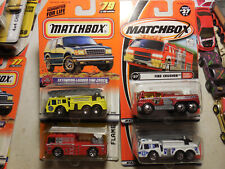 Matchbox FIRE ENGINE LOT 4 Flame Tamer FIRE CRUSHER EXTENDING LADDER FLAME EATER
