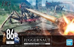 HG Eighty Six Juggernaut  (Long Range Cannon Type) Model Kit 1/48