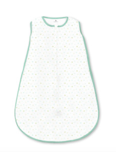 Tiny Bear Pastel Blue Amazing Baby Cotton Sleeping Sack with 2-Way Zipper Small
