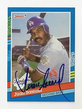 1991 DONRUSS JUAN SAMUEL AUTO AUTOGRAPH CARD #62 SIGNED IN PERSON DODGERS