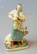 Russische Porzellanfigur Bäuerin Porzellan FRAU UdSSR 30-er