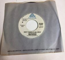 THE DELPHONICS, DON'T THROW IT ALL AWAY, ARISTA#308, RARE PROMO 45 RECORD, 1978