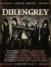 "DIR EN GREY ""LIVE IN CONCERT"" 2015 NORTH AMERICAN TOUR POSTER- Avant-garde Metal"