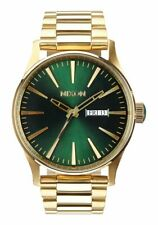 OROLOGIO Nixon Sentry SS A3561919 watch acciaio oro verde Gold green Uomo