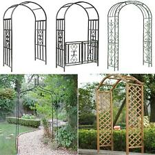 More details for metal wooden garden arch rose archway pergola arbour climbing plants trellis