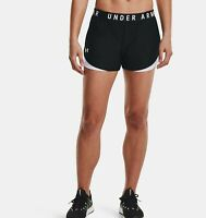 Under Armour Women's UA Play Up Shorts 3.0 - 1344552-002 Black/White