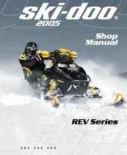 2005 Ski-Doo REV series GSX GTX MK Z Summit snowmobile service manual in binder