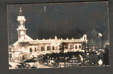 unmailed EKC cello RPPC post card De Noche Palacio Municipal Veracruz