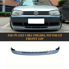 Front Bumper Lip Spoiler Unpainted PU Bodykits for 1998-2004 VW Golf 4 IV MK4