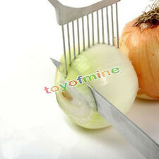 Onion Tomato Vegetable Slicer Cutting Aid Guide Holder Slicing Cutter Gadget Y6