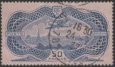 "FRANCE AVION N° 15 "" CAUDRON SIMOUN 50F BURELAGE ROSE 1936 "" OBLITERE TB  K356"