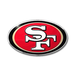 San Francisco 49ers Metal Die Cut Auto Emblem Decal Sticker NFL