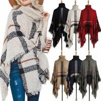 Women Ladies Tassel Jumper Sweater Shawl Poncho Cape Warm Coat Cardigans Outwear