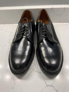 Alden Black Shell Cordovan Plain Toe Shoes 13 D Barrie