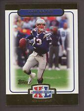 2005 Topps Super Bowl Gold Tom Brady Patriots #/1000 CENTERED MINT