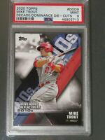 2020 TOPPS #DOD9 MIKE TROUT DECADE OF DOMINANCE DIE CUT - PSA 9 - MINT