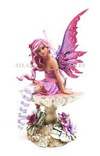 Amy Brown Gothic Manga Magenta Fairy Sculpture Figurine Whimsical Wild Forest