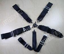 "Secuda Hi-Q Racing Seat Harness Belt Quick Release 3"" Inch 4 5 6 Point Black"