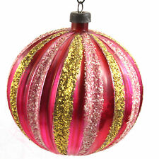 Vintage Mercury Glass Christmas Ornament Striped West Germany German