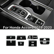 Glossy Black Car Gear Shift Switch Button Guard Cover For 2018-2020 Honda Accord