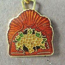 1986 Crumb Tray Charm Decorative Arts Collection Commemorative Enamel Jewelry