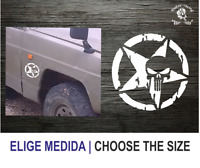 Estrella militar Punisher (TT149) Star Military Vinilo Pegatina Vinyl Decal