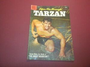 TARZAN #95 Dell Comics 1957 jungle EDGAR RICE BURROUGHS Gordon Scott movies/tv