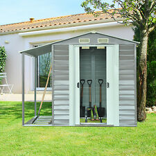8.5'x6' Garden Storage Shed Tool Backyard Gable Roof Utility Outdoor Building