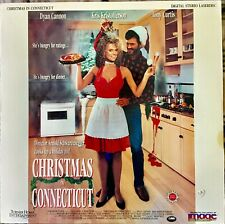 "CHRISTMAS IN CONNECTICUT 12"" LASERDISC MOVIE VERY GOOD VERY RARE 1992"