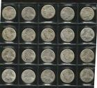 1966 FIFTY CENTS X 20 - FIRST YEAR OF ISSUE - SILVER - AUN TO UNCIRCULATED