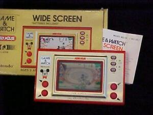 DISNEY MICKEY MOUSE NINTENDO GAME & WATCH WIDE SCREEN MC-25 GAME MINT w/ BOX