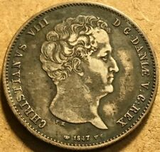 DENMARK - Christian VIII - Rigsbankdaler - 1847 FK/VS - Extra Fine - See images!