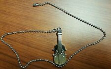 Ceiling Fan / Light Beaded Pull Chain Cord Musical Instrument Violin Brush Steel