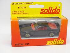 Solido 1/43 - Chevrolet Camaro Z28 Noire