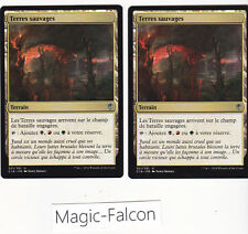 LOT x2 Terres sauvages COMMANDER MAGIC MTG NEUF MINT FRANCAIS/FRENCH VF ★★★