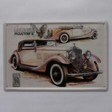 Vintage Style Metal Rolls Royce Continental Phantom 11 Plaque