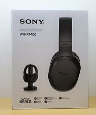 SONY Wireless Stereo Headphone System WH-RF400 TV Home Theater Gaming PC Black