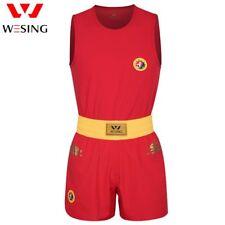 Wesing men wushu sanda uniform sanshou clothing set approved IWUF dragon print
