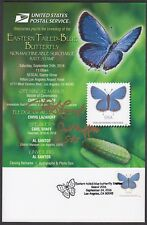 2016 Eastern-Tailed Blue Butterfly stamp FDOS ceremony program Scott 5136 SIGNED