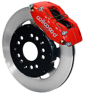 "WILWOOD DISC BRAKE KIT,FRONT,MITSUBISHI ECLIPSE,AVENGER,TALON,SEBRING,12"",RED CA"