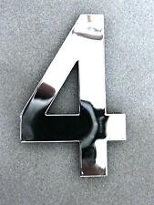 extra grosse Zahl 4 Vier verchromt chrom Buchstabe Initialen groß Zahlen