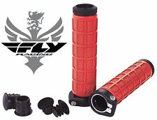 Fly Racing Grip Lock Grips Red 7/8 BMX Bicycle Race Cruiser 20 Inch Locking Quad