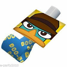 (8) PHINEAS & FERB BLOWOUTS ~ Favors Birthday Party Supplies Agent P