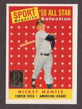 1997 Topps MICKEY MANTLE #25 of 36 1958 Topps All Star #487 Reprint