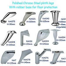 Chrome Steel Feet / Plinth Legs sofa beds cupboard cabinets Kitchen furniture