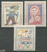 Czechoslovakia yv cekoslovensko # 989/991 mnh unesco together.