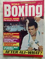 WORLD BOXING Magazine ~ May 1975 ~ MUHAMMAD ALI ~ EXCELLENT